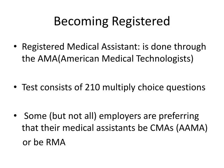 Becoming Registered