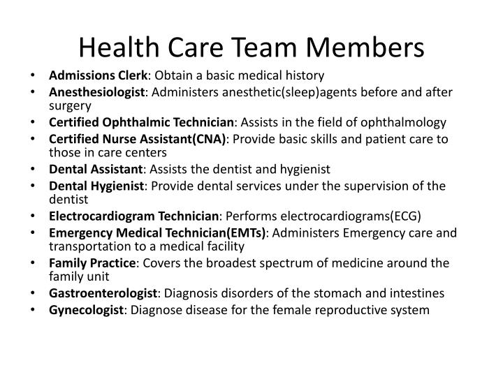 Health care team members1
