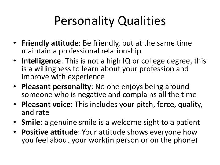 Personality Qualities