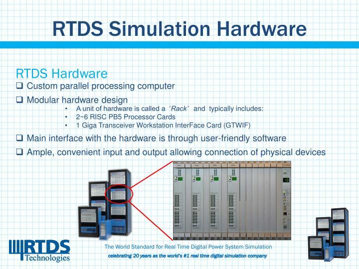 RTDS Simulation Hardware