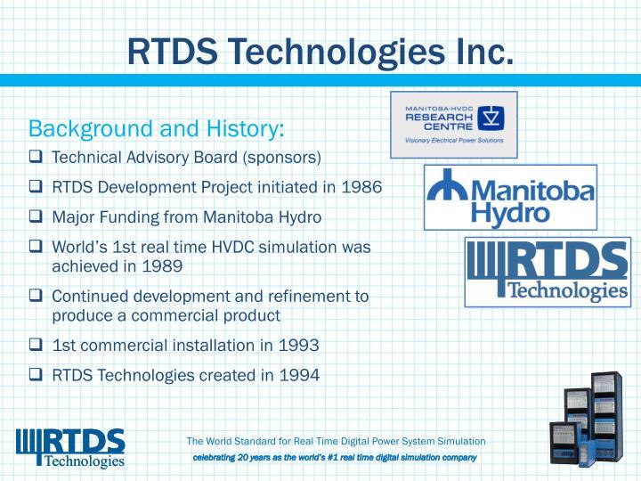 Rtds technologies inc