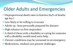 older adults and emergencies
