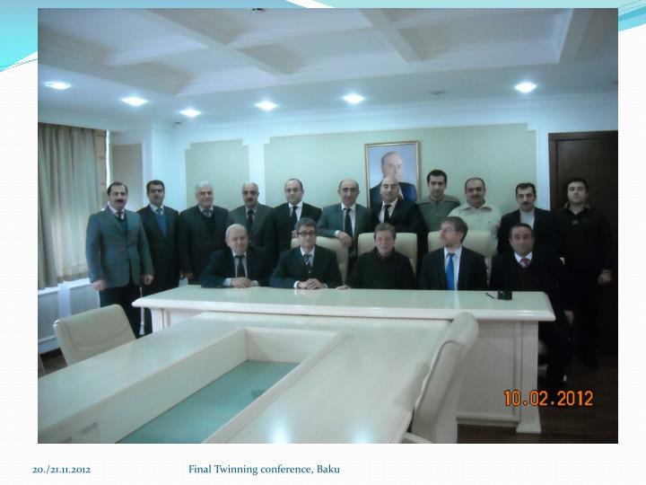 Final Twinning conference, Baku