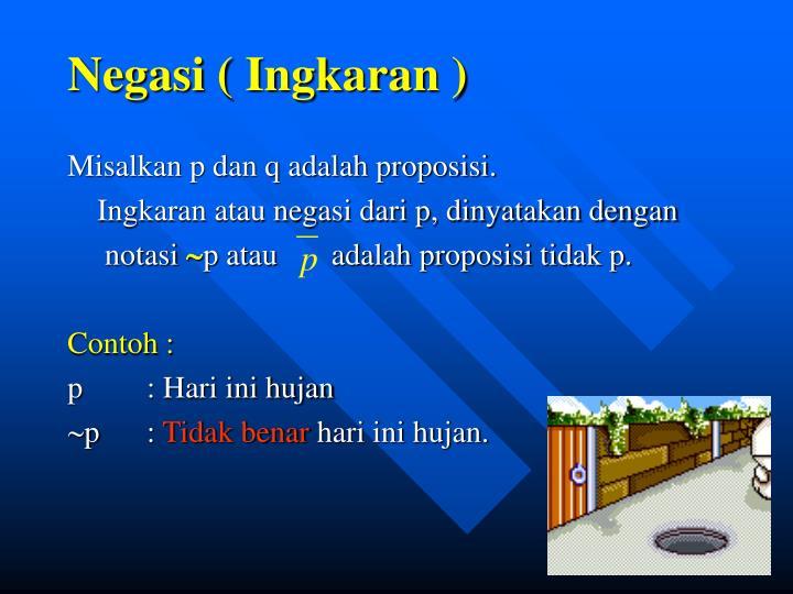 Negasi ( Ingkaran )
