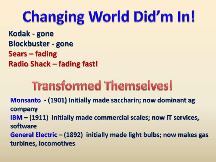 Changing World