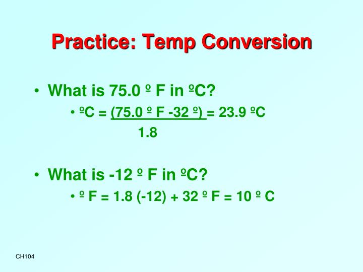 Practice: Temp Conversion