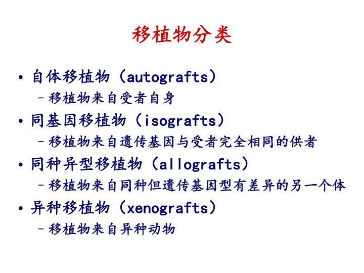 移植物分类