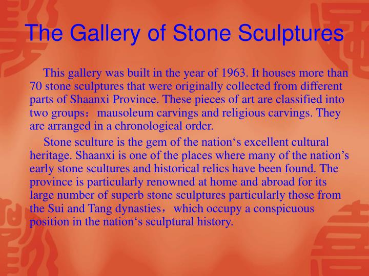 The Gallery of Stone Sculptures