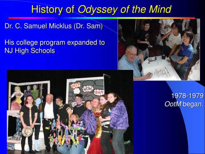 History of Odyssey of the Mind