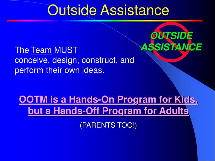 Outside Assistance