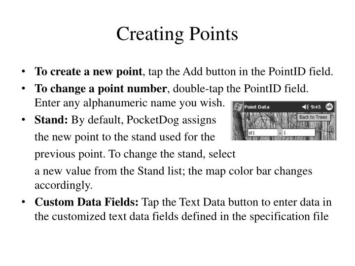 Creating Points