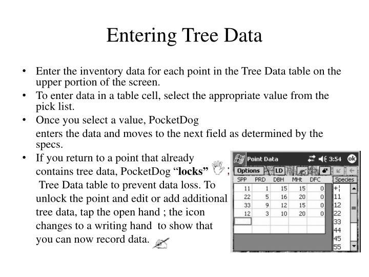 Entering Tree Data