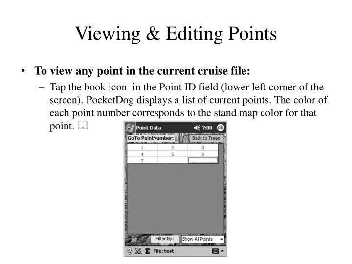 Viewing & Editing Points
