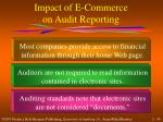 impact of e commerce on audit reporting