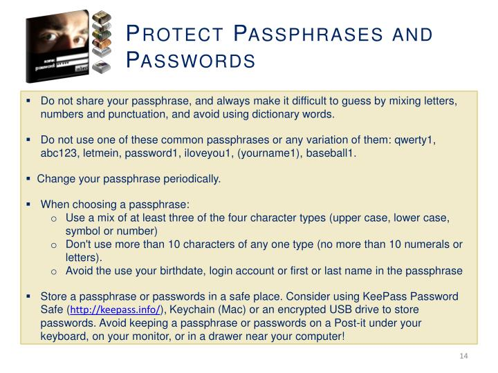 Protect Passphrases and Passwords
