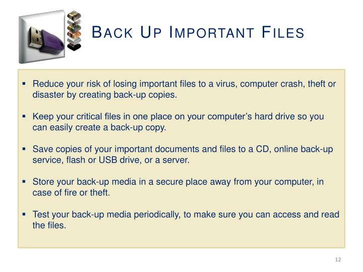 Back Up Important Files
