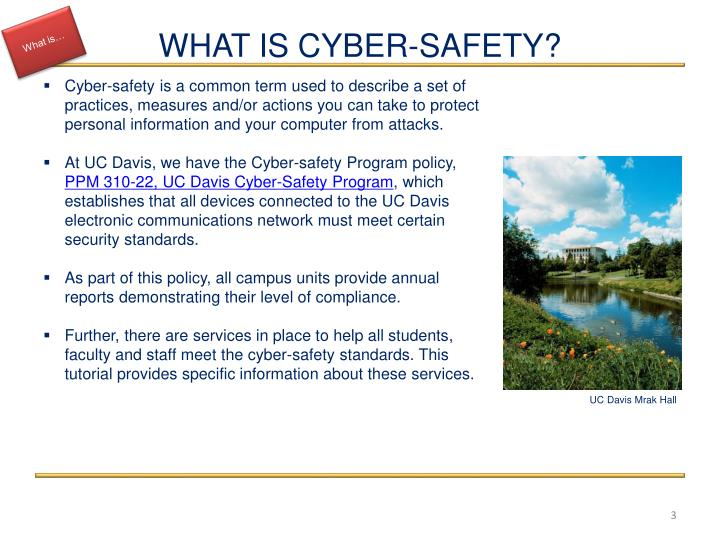 What is cyber safety