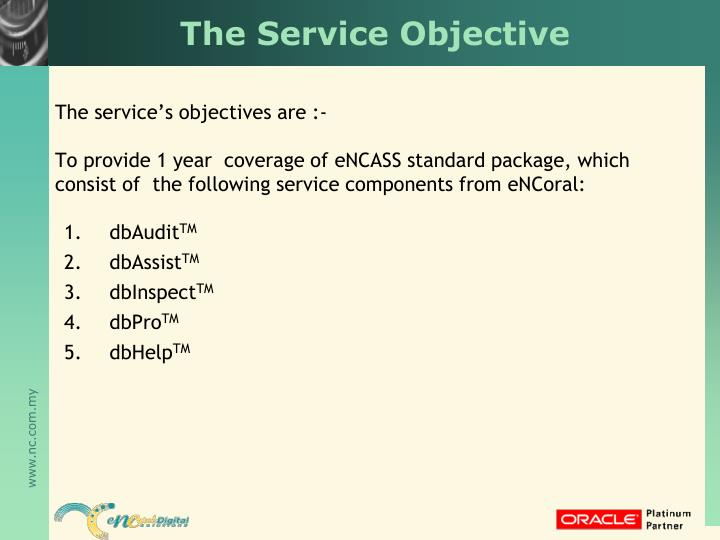 The Service Objective
