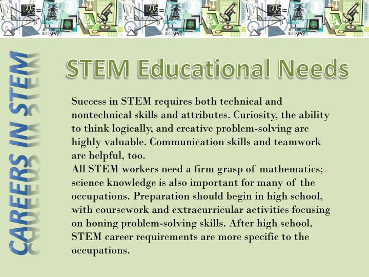 STEM Educational Needs