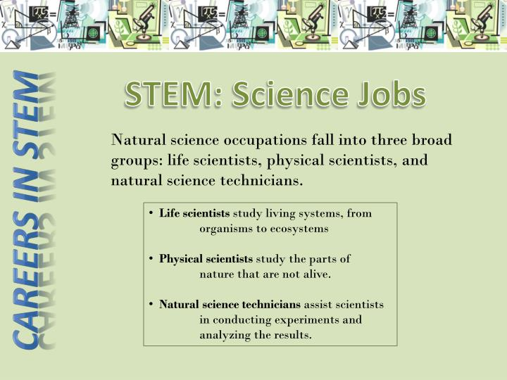 STEM: Science Jobs