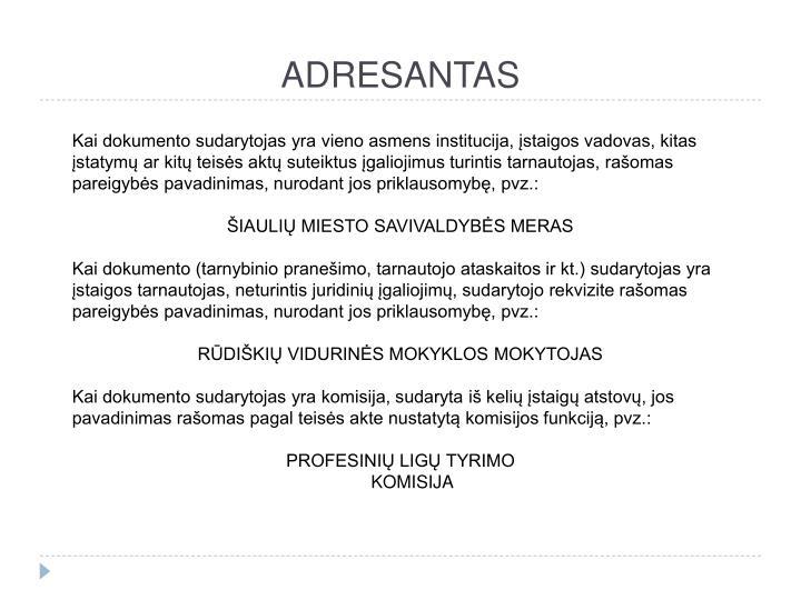 ADRESANTAS