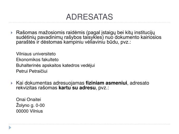 ADRESATAS