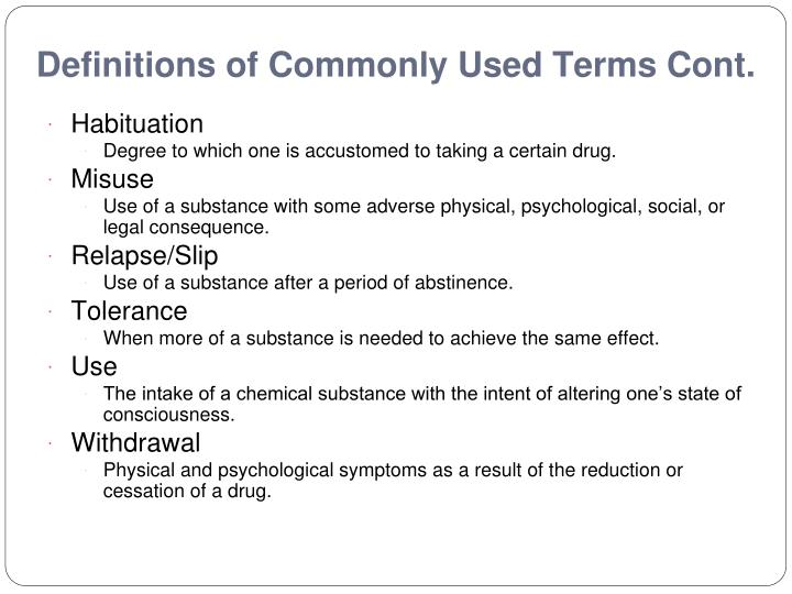 definitions of commonly used terms in healthcare