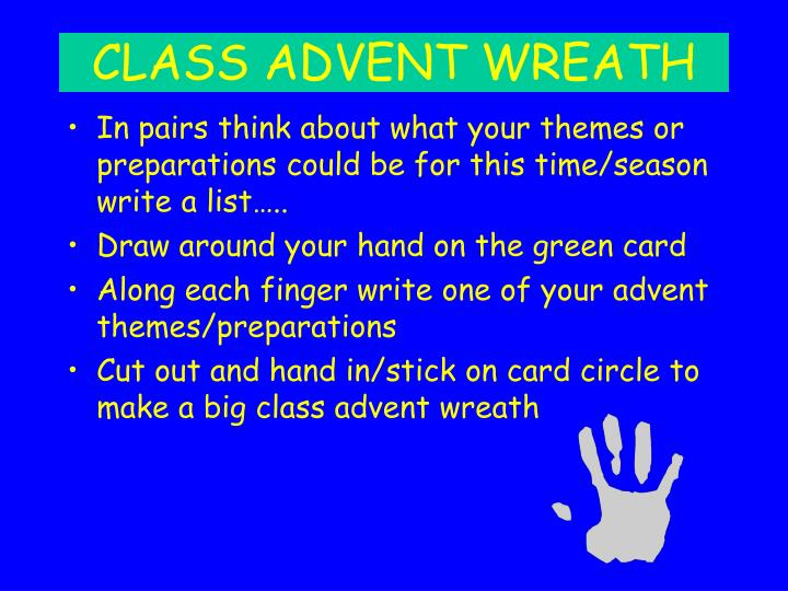 CLASS ADVENT WREATH