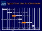 typical time line for icb activities