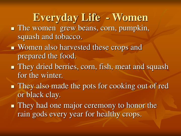 Everyday Life  - Women