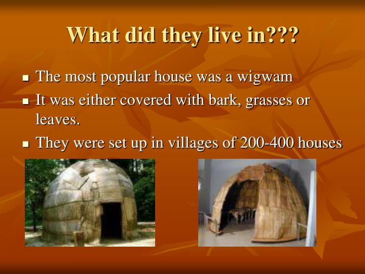 What did they live in???
