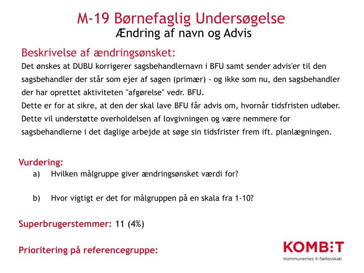 M-19 Børnefaglig Undersøgelse