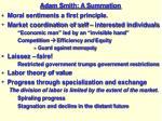 adam smith a summation