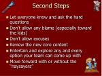 second steps