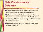 data warehouses and database1