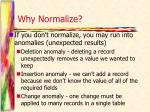 why normalize