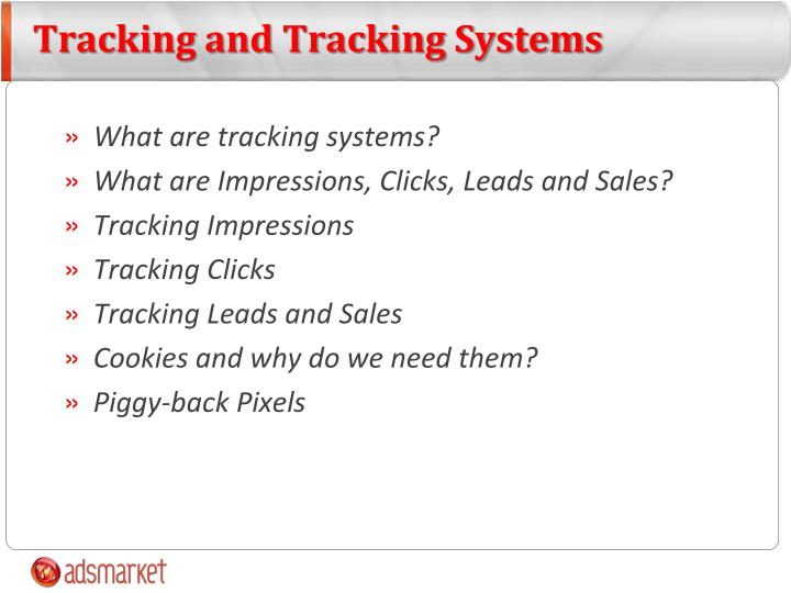 Tracking and tracking systems1