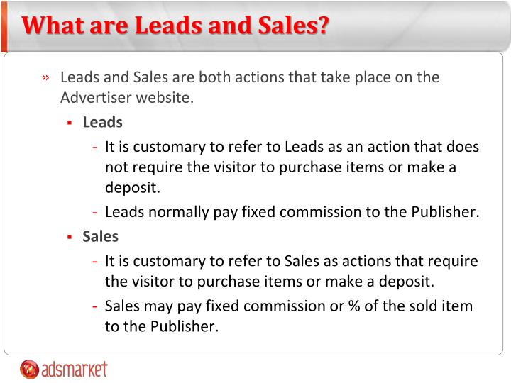 What are Leads and Sales?