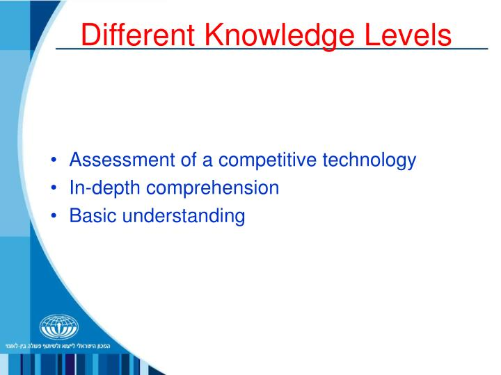 Different Knowledge Levels