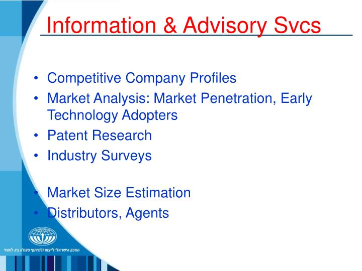 Information & Advisory Svcs