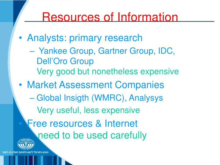 Resources of Information