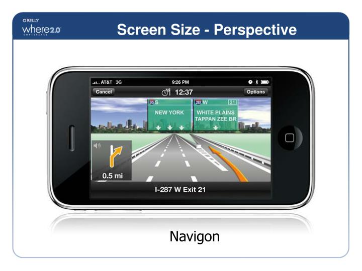 Screen Size - Perspective
