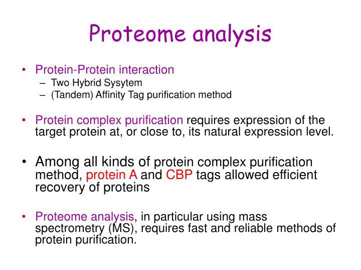 Proteome analysis