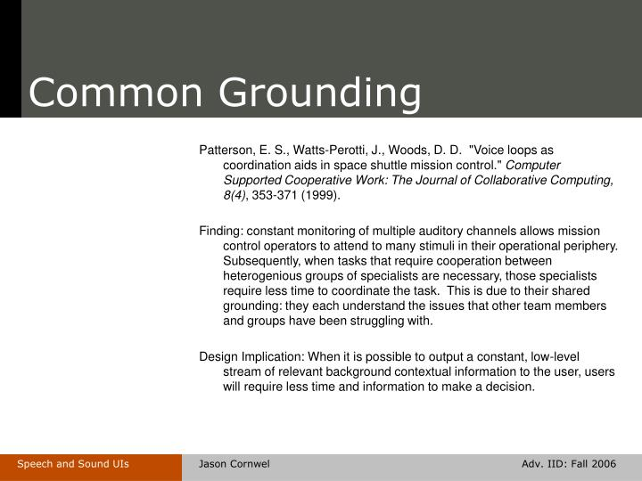 Common Grounding