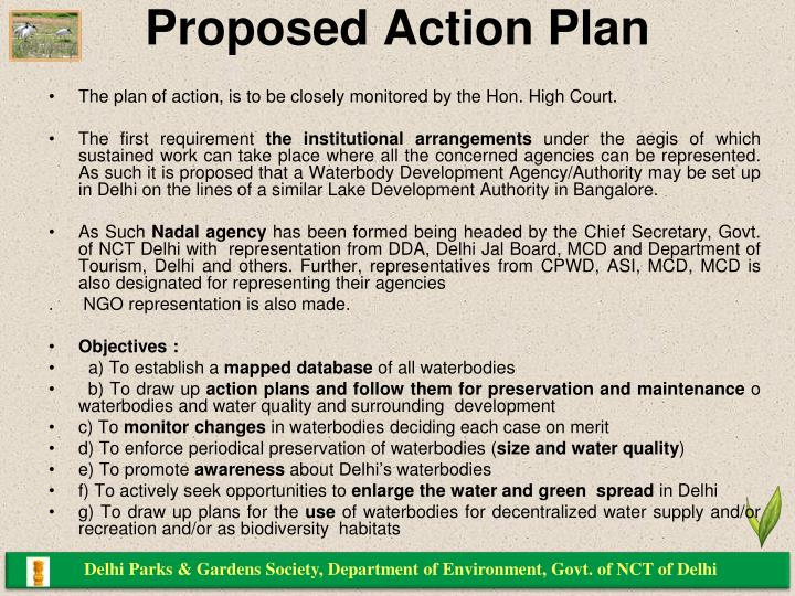 Proposed Action Plan