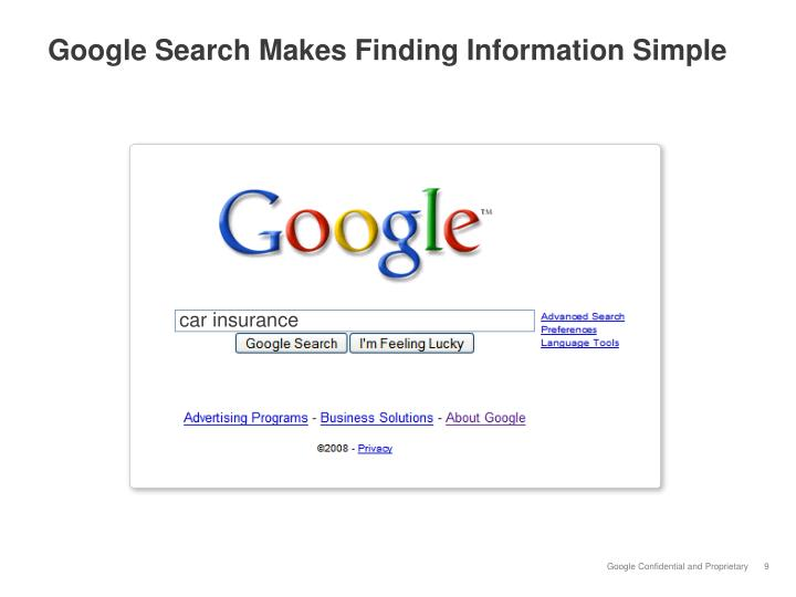 Google Search Makes Finding Information Simple