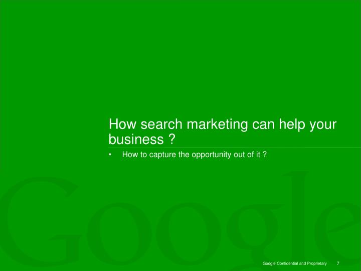 How search marketing can help your business ?