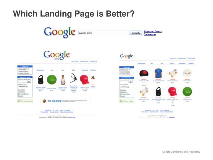 Which Landing Page is Better?