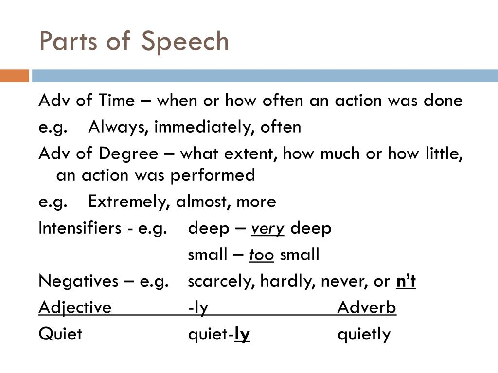 PPT - Parts of Speech PowerPoint Presentation - ID:6236034
