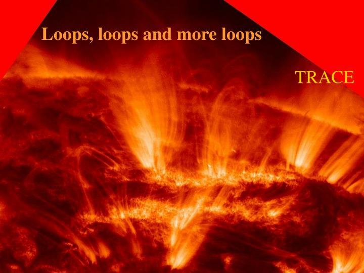 Loops, loops and more loops